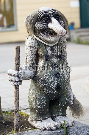 troll statue norwegen