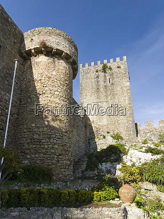 the castle historic small town obidos