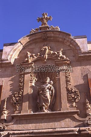 europa spanien salamanca dieses kirchendetail zeigt