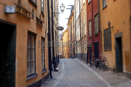 historic old street in gamla stan