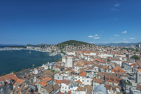 croatia split split old town viewed