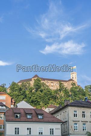 slovenia ljubljana old town and ljubljana