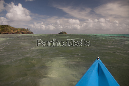 kayaking towards paddys island from turtle