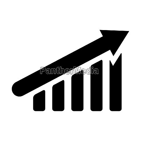 growth graph up silhouette icon financial