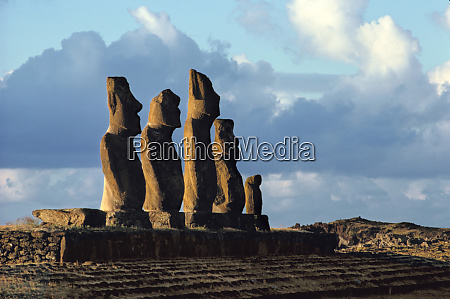 south america chile easter island warm