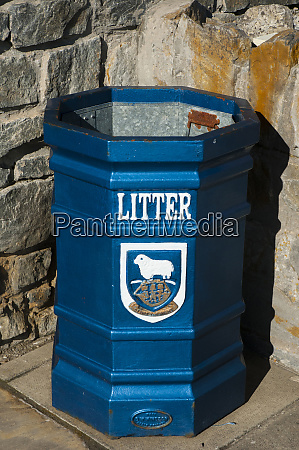 falkland islands stanley trash bin with