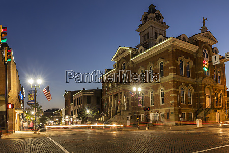 historic court street in downtown athens