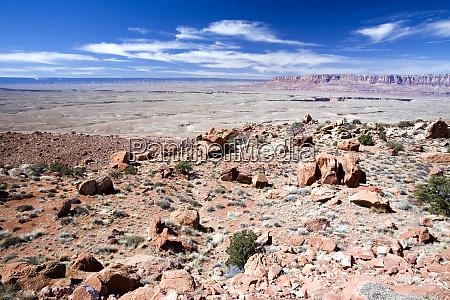 usa arizona navajo reservation wuestenlandschaft auf