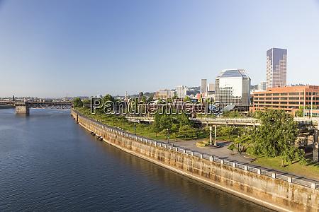 usa oregon portland downtown and waterfront
