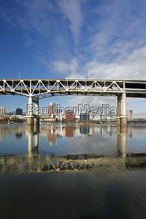usa oregon portland marquam bridge spanning