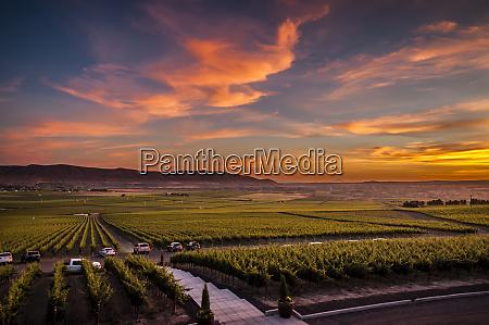usa washington state red mountain sunset