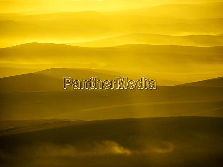 usa washington state palouse region sunset