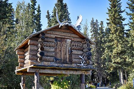 usa alaska fairbanks chena indian village