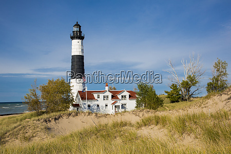 big sable point lighthouse on lake