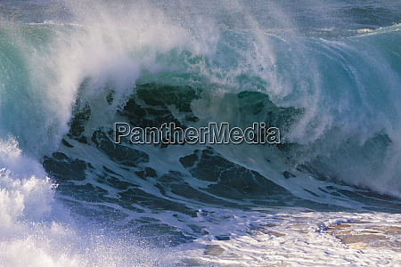usa hawaii oahu grosse wellen entlang