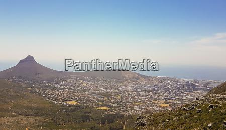 panoramablick auf die gesamte kueste kapstadts