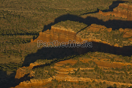 aerial view doe mesa early morning