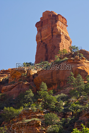 blick, vom, fay, canyon, schornsteinfelsen, red, rock, coconino, national - 27824814