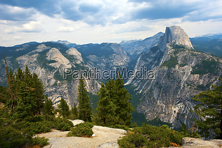 usa california yosemite national park half