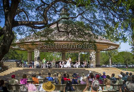 usa hawaii oahu honolulu bandstand music