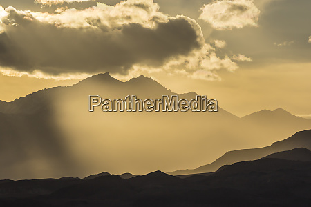 usa nevada white mountains sunset god