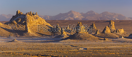 usa california sunset on trona pinnacles