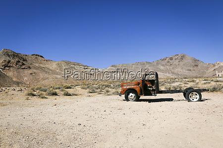 abandoned truck rhyolite nevada usa