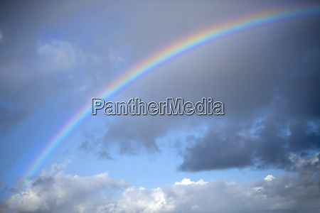 usa california rainbow and clouds credit