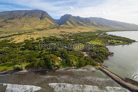 aerial, olowalu, küste, maui, hawaii - 27835930