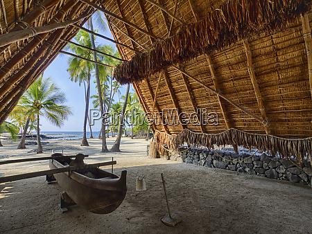 usa hawaii big island canoe on