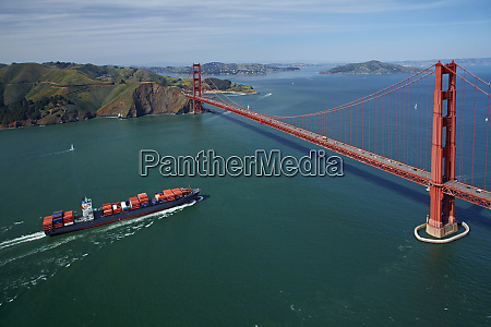 usa california san francisco container ship