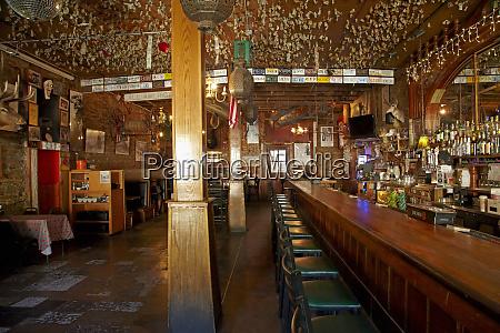interior of the iron door saloon