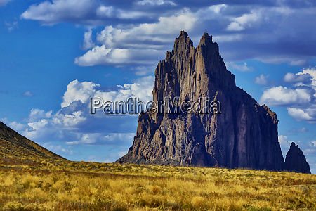 usa new mexico shiprock formation on