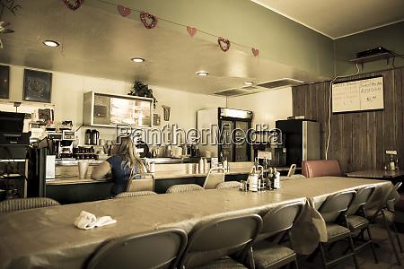 interior of a diner niland california