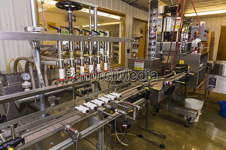 the bottling conveyer at maine maple