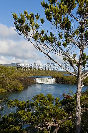 the waterfalls chutes de la madeleine