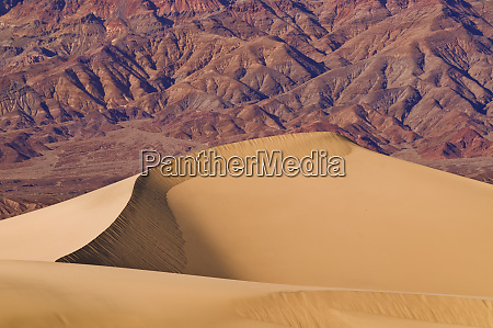 mesquite flat sand dunes under the