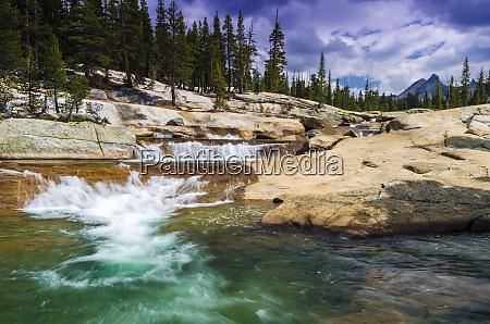 cascade on the tuolumne river under