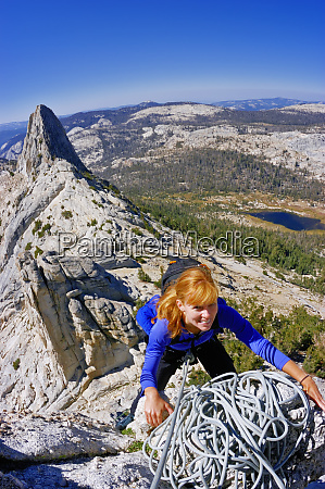 climber on the classic matthes crest