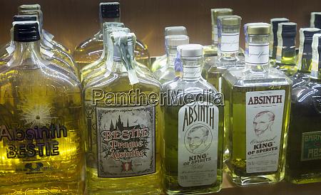 czech republic prague selection of absinthe