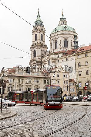 czech republic prague red street car