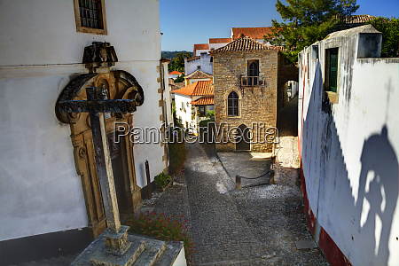 portugal obidos street of the old