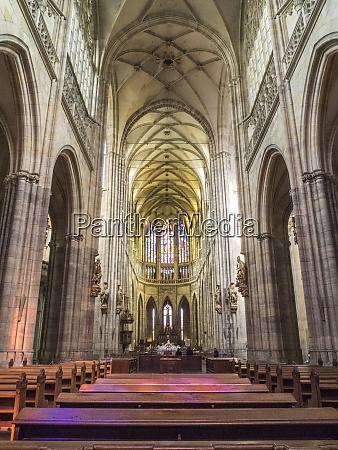 czech republic prague the nave of