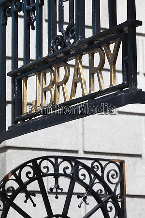 ireland dublin national library sign