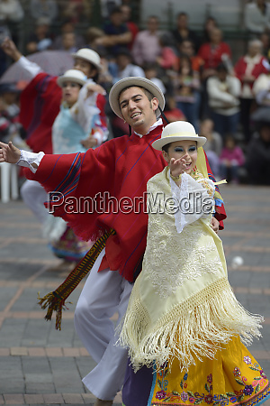 ecuador pichincha quito traditional dancing in