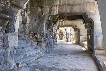 france nimes roman amphitheater or arena