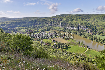 france lot river valley a panorama