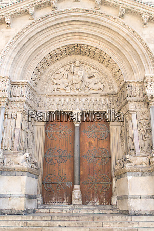 st trophime cathedral arles provence france