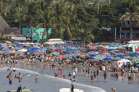 main public beach in sayulita mexico