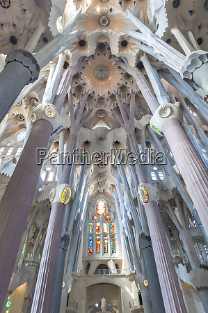 europe spain barcelona sagrada familia interior